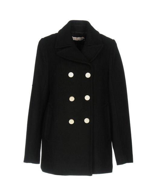 Tory Burch - Black Double Breasted Coat - Lyst