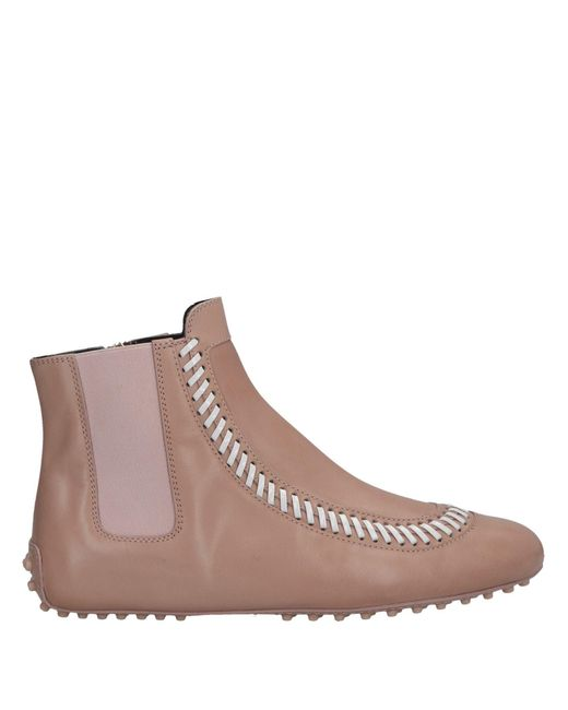 Tod's - Brown Ankle Boots - Lyst