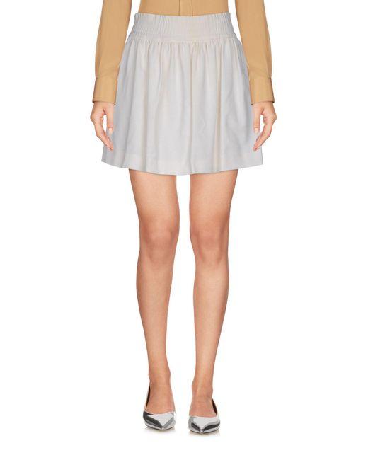 RED Valentino - White Mini Skirt - Lyst
