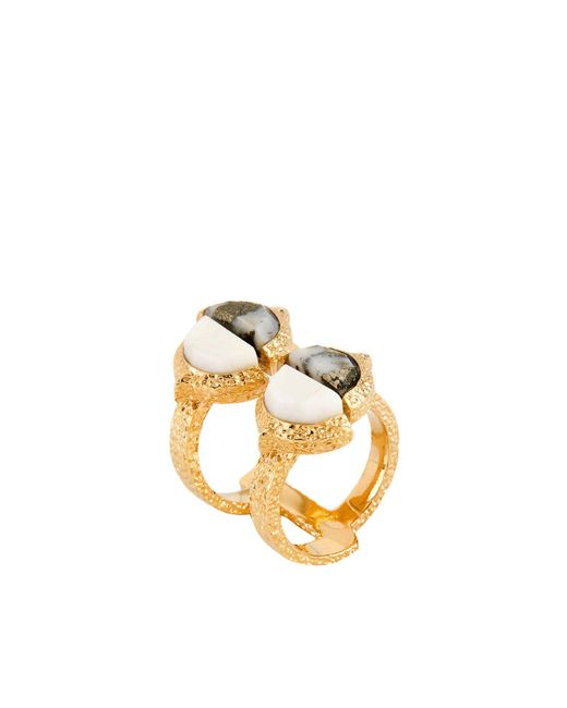 Isharya | White Ring | Lyst