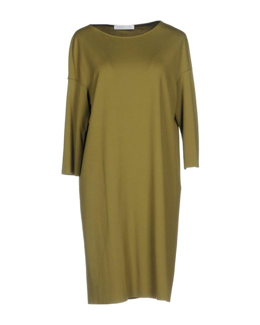 Harris Wharf London - Green Short Dress - Lyst