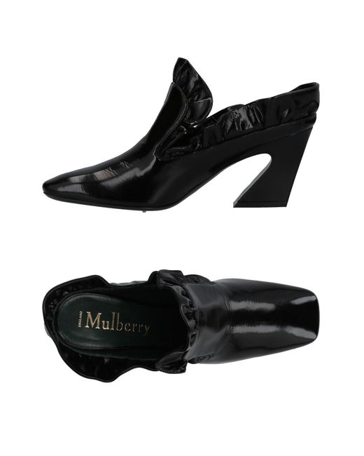 Mulberry - Black Mules - Lyst