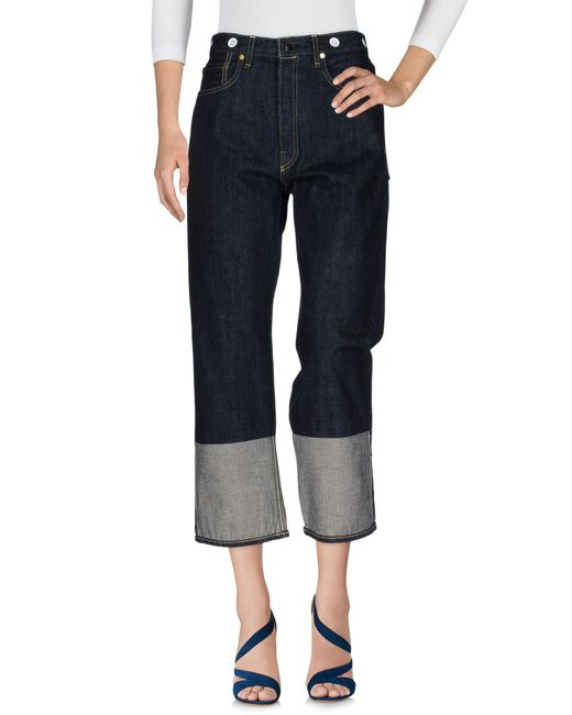 Rag & Bone - Blue Denim Trousers - Lyst