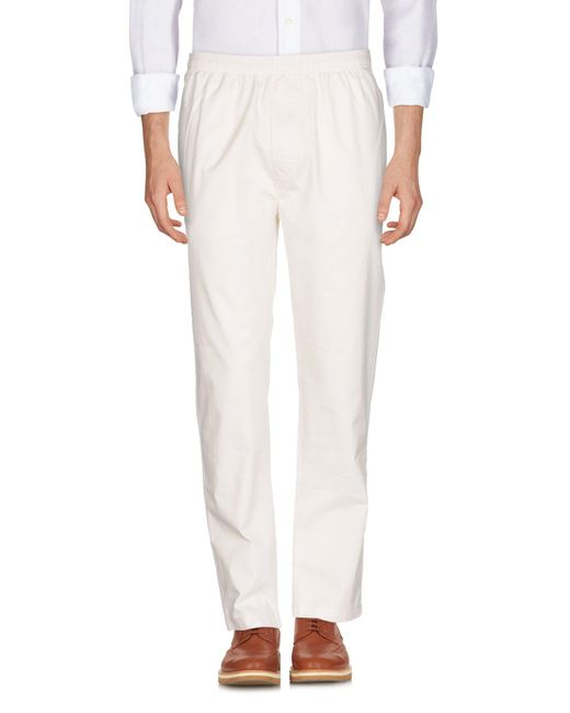 Stussy - White Casual Pants for Men - Lyst