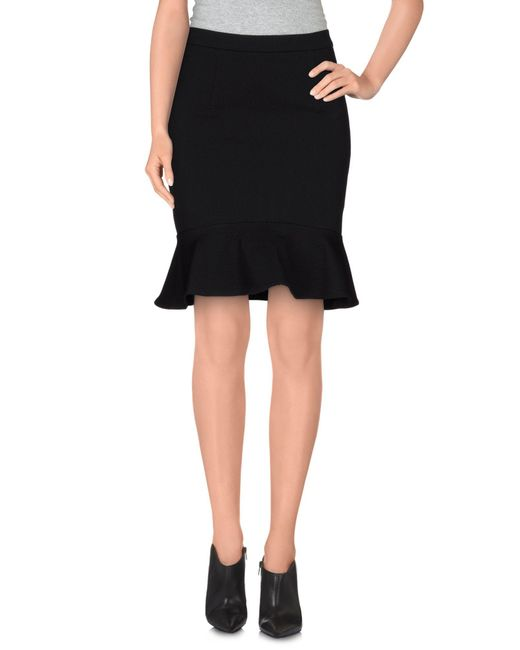 Brigitte Bardot - Black Knee Length Skirt - Lyst