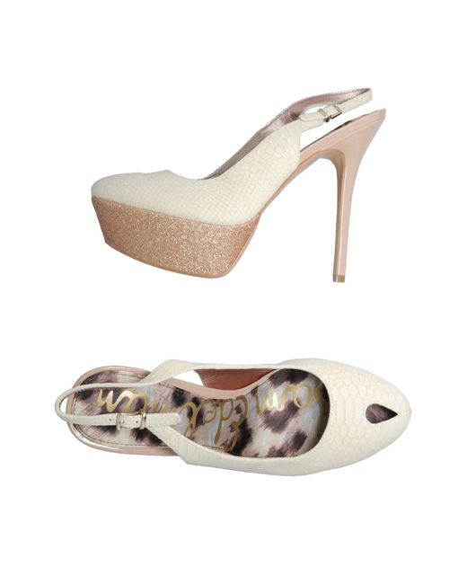 Sam Edelman - White Slingbacks - Lyst