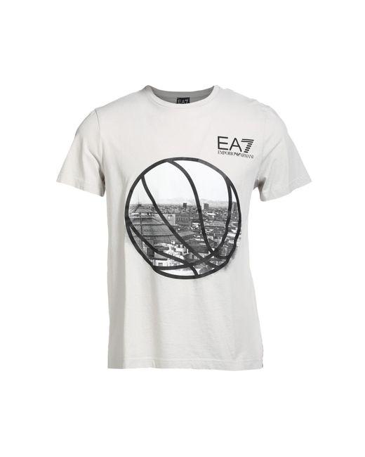 EA7 - Gray T-shirt for Men - Lyst