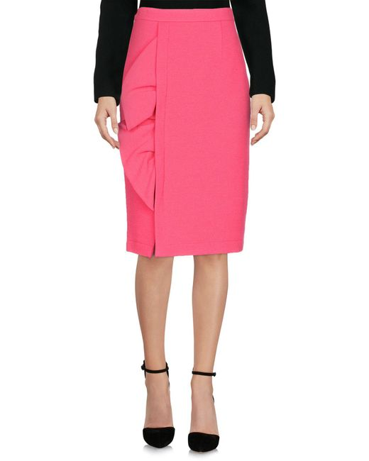 Boutique Moschino - Pink Knee Length Skirt - Lyst