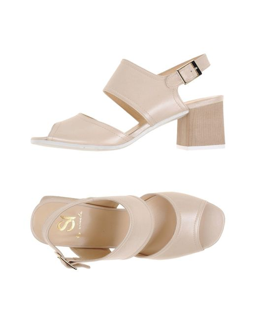Si By Sinela - Natural Sandals - Lyst