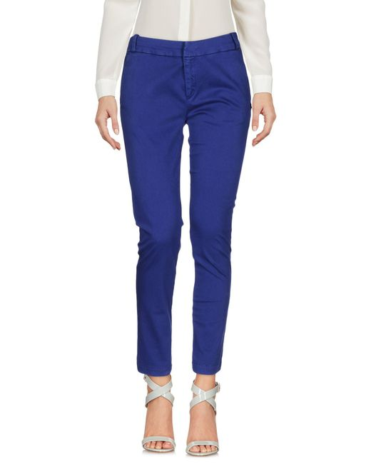 CafeNoir | Blue Casual Trouser | Lyst