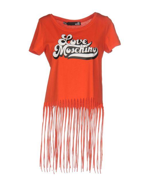 Love Moschino Red T-shirt