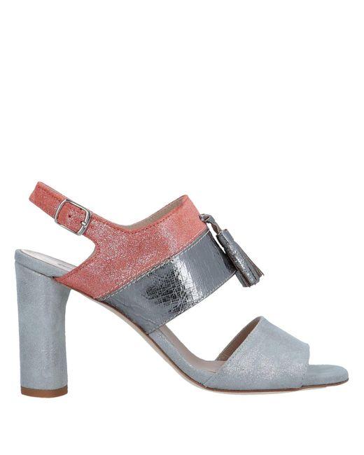 Emanuela Passeri - Metallic Sandals - Lyst