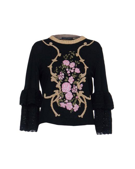 Alberta Ferretti - Black Sweaters - Lyst