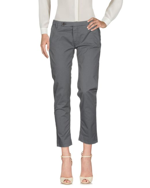 TRUE NYC - Gray Casual Pants - Lyst
