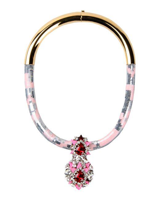 Shourouk - Pink Necklaces - Lyst