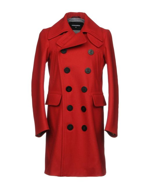 DSquared² | Red Coat for Men | Lyst
