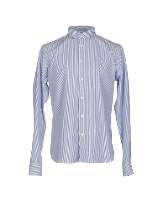 TRUE NYC - Blue Shirts for Men - Lyst