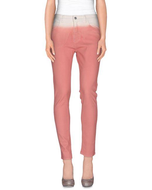 MM6 by Maison Martin Margiela - Pink Denim Trousers - Lyst