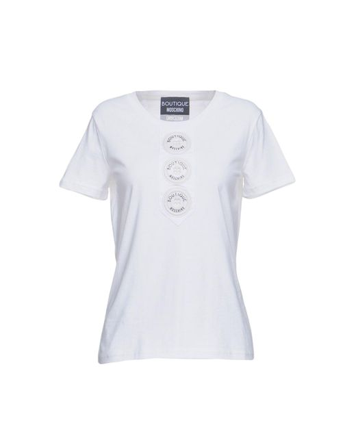 Boutique Moschino - White T-shirts - Lyst