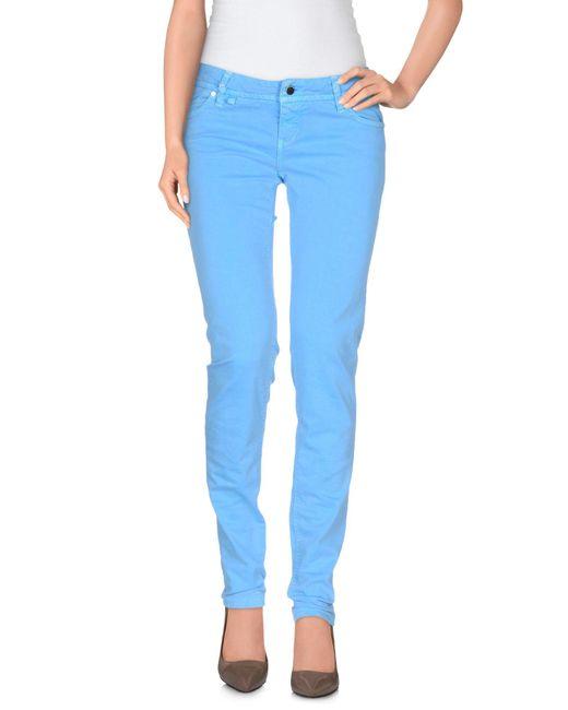 Jfour - Blue Casual Trouser - Lyst