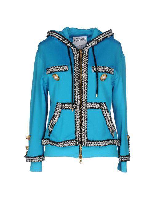 Moschino Couture   Blue Sweatshirt   Lyst