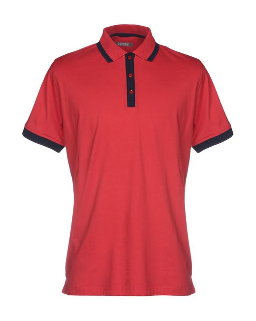 Andrea Fenzi - Red Polo Shirt for Men - Lyst