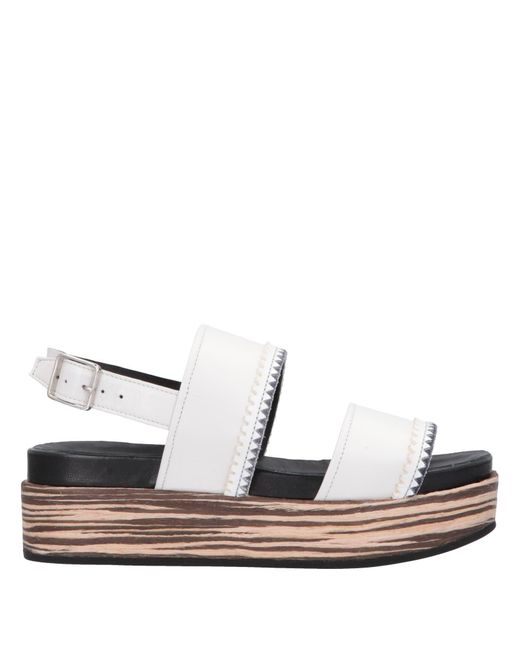 Alberto Fermani - White Sandals - Lyst