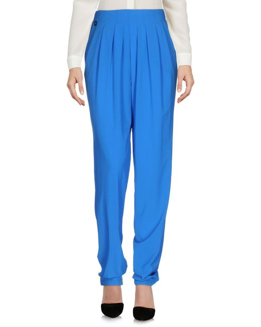 Manila Grace   Blue Casual Pants   Lyst