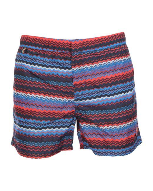 Missoni - Blue Swimming Trunks for Men - Lyst