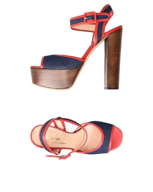 Jolie By Edward Spiers | Red Sandals | Lyst
