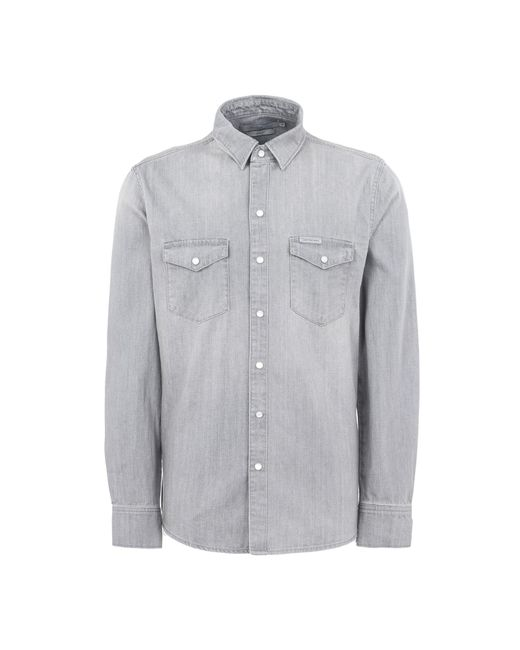 Calvin Klein Jeans - Gray Denim Shirts for Men - Lyst