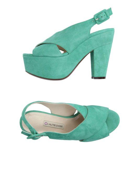 L'Autre Chose | Green Sandals | Lyst