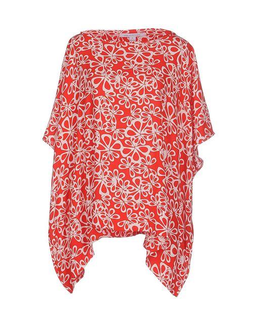 Diane von Furstenberg - Red Blouses - Lyst