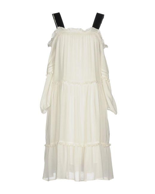 Blugirl Blumarine - White Knee-length Dress - Lyst