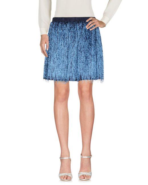 Julien David Blue Mini Skirt