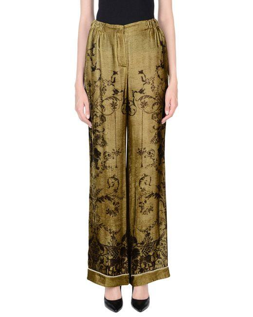 Alberta Ferretti - Green Casual Pants - Lyst