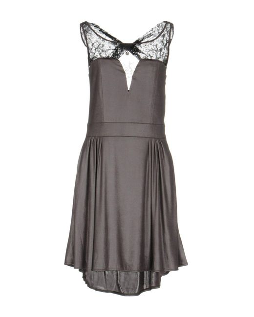 Guess - Gray Short Dress - Lyst