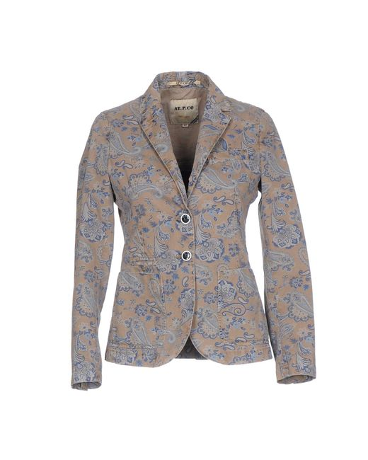 AT.P.CO - Brown Blazers - Lyst