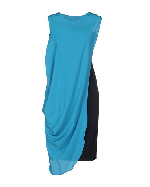 Frankie Morello - Blue Knee-length Dress - Lyst