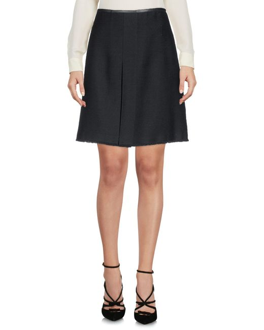 COACH - Black Knee Length Skirts - Lyst
