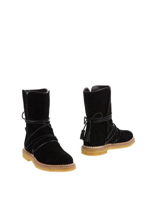 Paloma Barceló - Black Ankle Boots - Lyst