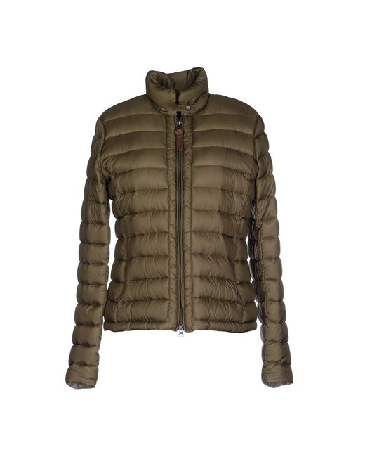 Woolrich - Green Down Jacket - Lyst