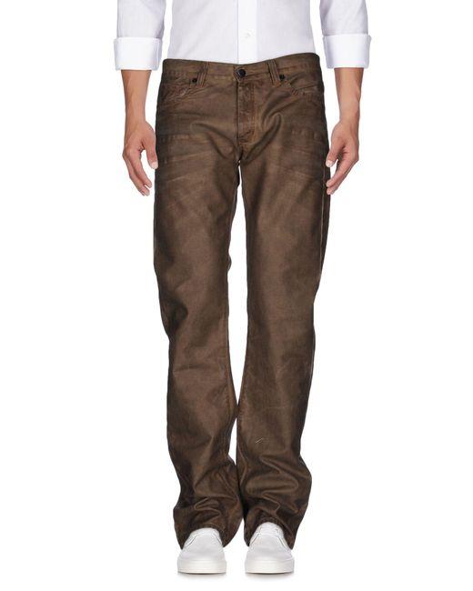 Ring - Brown Denim Pants for Men - Lyst