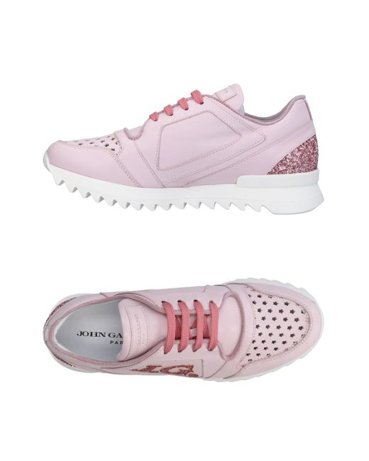 John Galliano - Pink Low-tops & Sneakers - Lyst