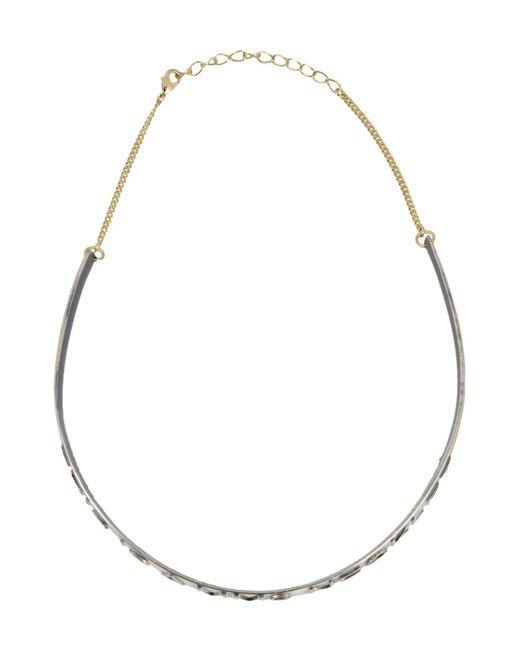 MM6 by Maison Martin Margiela - Metallic Necklace - Lyst