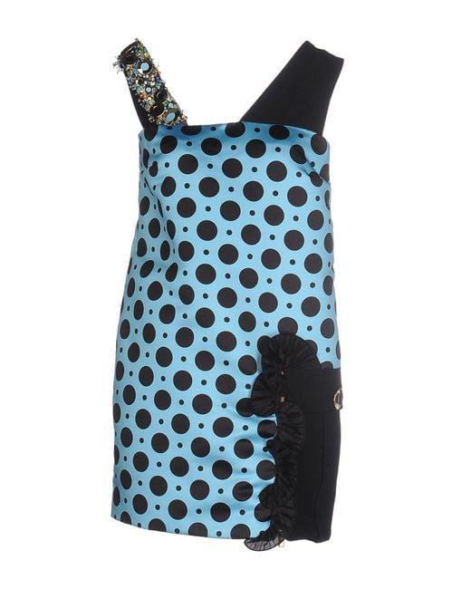 Emanuel Ungaro - Blue Short Dresses - Lyst