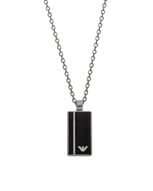 Emporio Armani - Metallic Egs2031040 Signature Men's Necklace for Men - Lyst