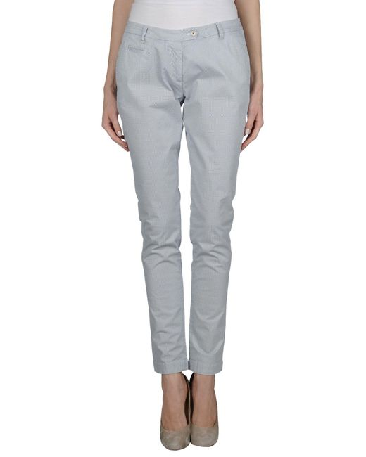 AT.P.CO - Blue Casual Pants - Lyst
