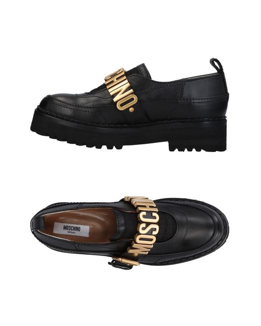 Moschino - Black Loafers - Lyst