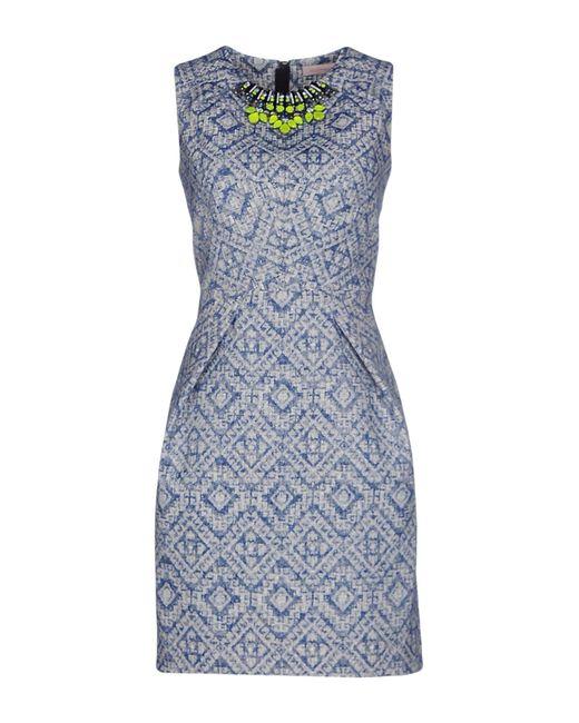 Matthew Williamson - Blue Short Dresses - Lyst